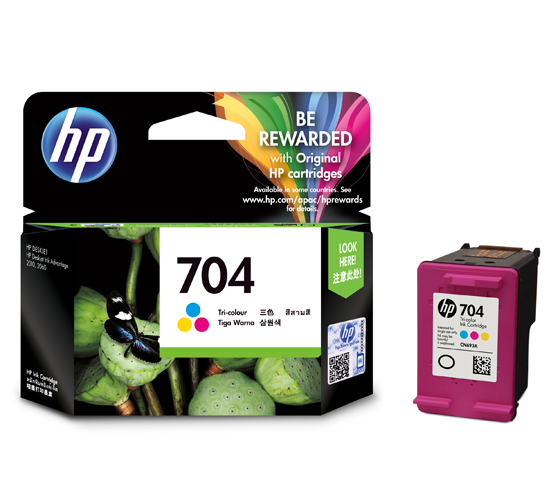 HP 704 Colour Ink Cartridge