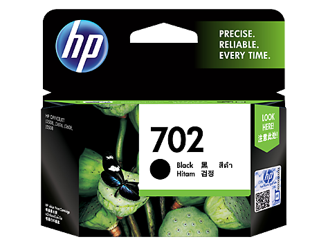 HP 702 Black Ink Cartridge (CC660AA)