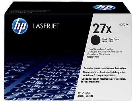 HP Black Toner Cartridge 27X [C4127X]