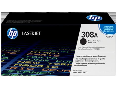 HP Black Toner LaserJet 308A [Q2670A]