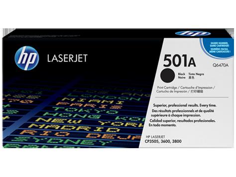 HP Black Toner LaserJet 501A [Q6470A]