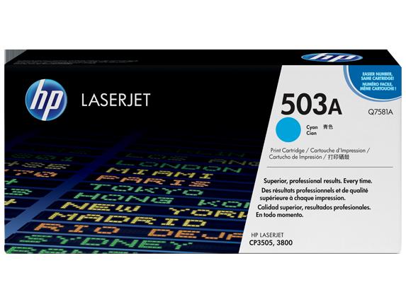 HP Cyan Toner LaserJet 503A [Q7581A]