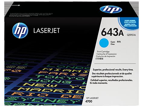 HP Cyan Toner LaserJet 643A [Q5951A]