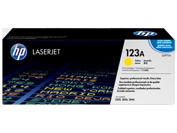 HP Yellow Toner LaserJet 123A [Q3972A]