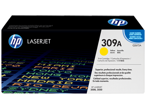HP Yellow Toner LaserJet 309A [Q2672A]