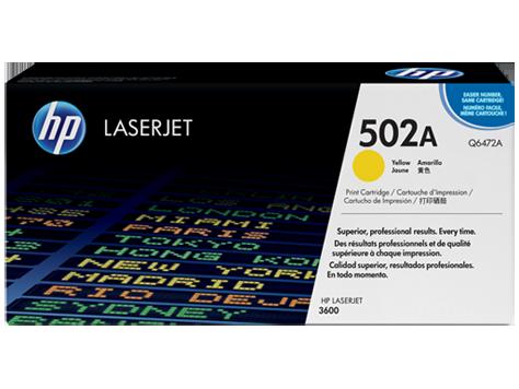 HP Yellow Toner LaserJet 502A [Q6472A]