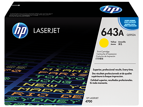 HP Yellow Toner LaserJet 643A [Q5952A]